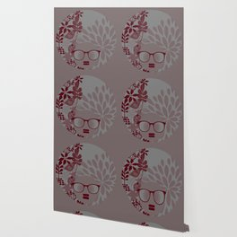 Afro Diva : Burgundy Sophisticated Lady  Wallpaper