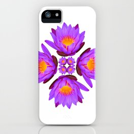 Purple Lily Flower - On White iPhone Case
