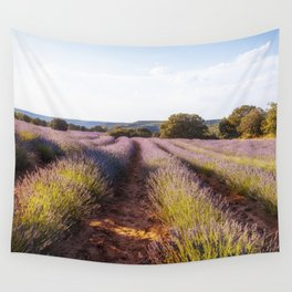 Lavender Fields at Sunset Wall Tapestry
