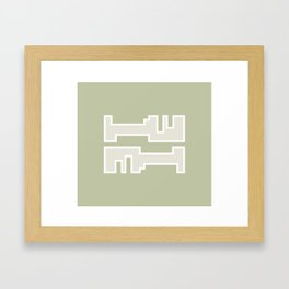 Brown // Key Blade Framed Art Print