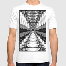Abstract.Black+White. Mens Fitted Tee MEDIUM White