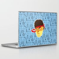 street fighter Laptop & iPad Skins featuring Ryu - Street Fighter by Kuki