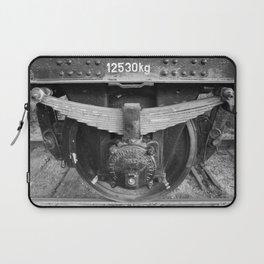 Old train wheel BW Laptop Sleeve