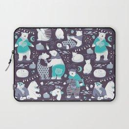 Arctic bear pajamas party Laptop Sleeve