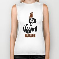 wwe Biker Tanks featuring Panda Wwe by Maxvtis
