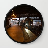 train Wall Clocks featuring Train by RMK Photography