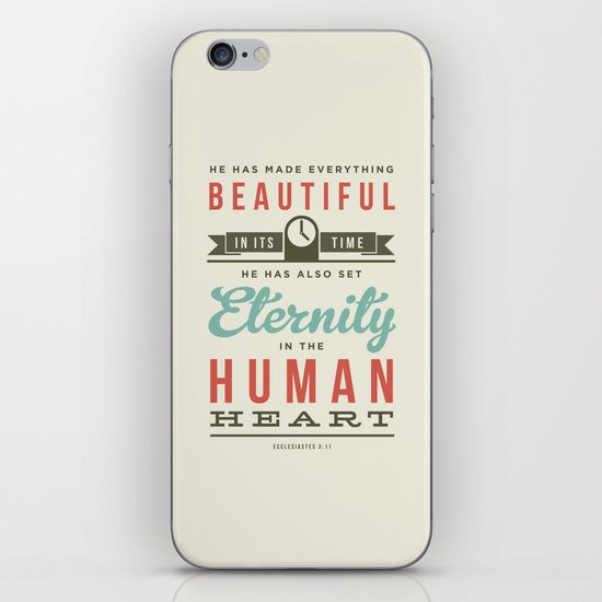 He has made everything beautiful iPhone & iPod Skin