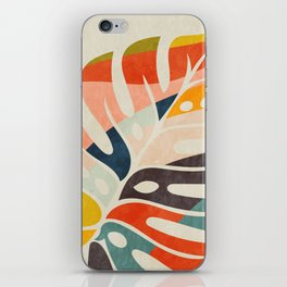 shape leave modern mid century iPhone Skin