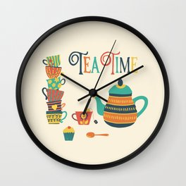 Tea Time Party Wall Clock