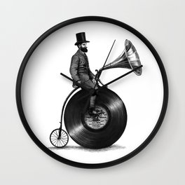 Music Man (monochrome option) Wall Clock
