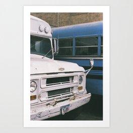 Bus Battle Art Print