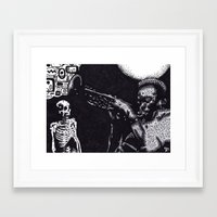 miles davis Framed Art Prints featuring MILES by NICHOLAS PRICE ART PRINTS