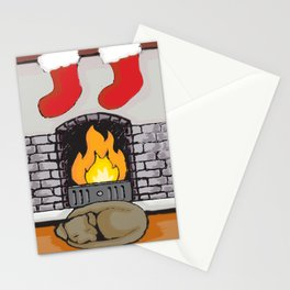 Canine Christmas (Fireside) Stationery Cards