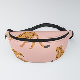 Cheetahs pattern on pink Fanny Pack