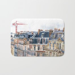 Roofs of Paris Bath Mat