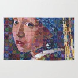 "I ""Heart"" Girl With A Pearl Earring Rug"