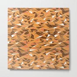 Geometric Desert Sand Dunes Metal Print