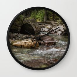A Forest Fit for Fairies - Glacier NP Wall Clock