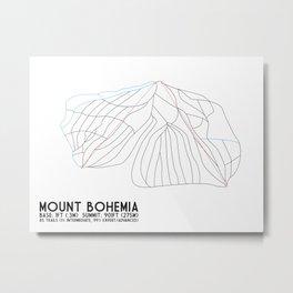 Mount Bohemia, MI - Minimalist Trail Art Metal Print