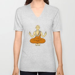 Spiritual peace, unfuck the world ;) Unisex V-Neck
