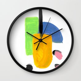 Bright Abstract Popsicle 1 Wall Clock
