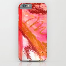 Fly with me - a watercolor, ink, and oil painting in red iPhone 6s Slim Case