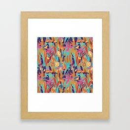 Jackfruit Jaguar Jungle Framed Art Print