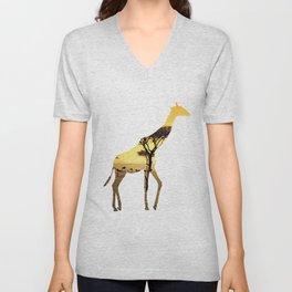 Giraffe Cutout 2 Unisex V-Neck
