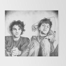 Gene & Dean Ween Graphite Drawing Throw Blanket
