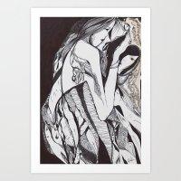 mirror Art Prints featuring Mirror by Paola Rassu