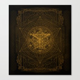 Dark Matter - Gold - By Aeonic Art Canvas Print