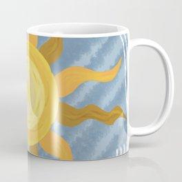 light blue sunset Coffee Mug