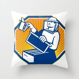 Beekeeper Honey Farmer Apiarist Apiculturist Throw Pillow