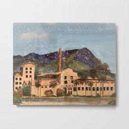 Sugar factory from GV city, Brazil Metal Print