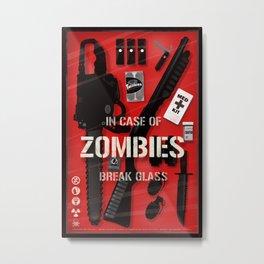 Zombie Emergency Kit Metal Print