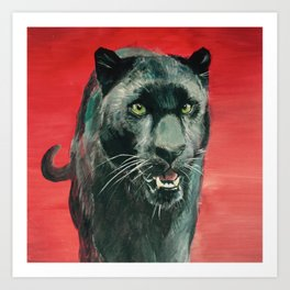 Panther's Passion Art Print