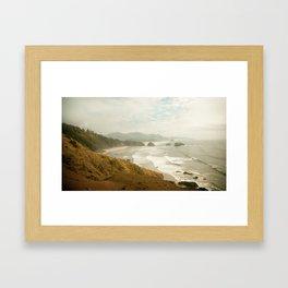Ecola Beach Landscape, Oregon Framed Art Print