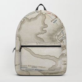 Vintage Battle of Bunker Hill Map (1775) Backpack