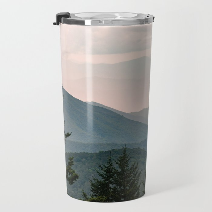 Smoky Mountain Pastel Sunset Travel Mug