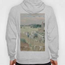 Hanging the Laundry out to Dry by Berthe Morisot Hoody