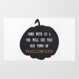 This our town of Halloween Rug
