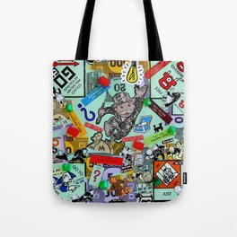 Vintage Monopoly Game Memories Tote Bag