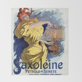 Kerosene oil  by Jules Cheret Throw Blanket