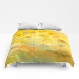 Abstract autumn with gold and warm light Comforters