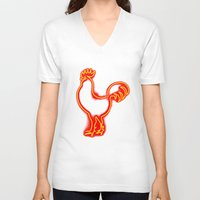 cock V-neck T-shirts featuring Glowing Cock by pwrighteous