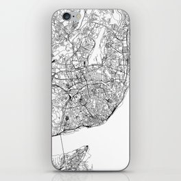 Lisbon White Map iPhone Skin