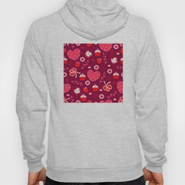 Valentine's Day: Red Hearts and Yummy Treats Hoody