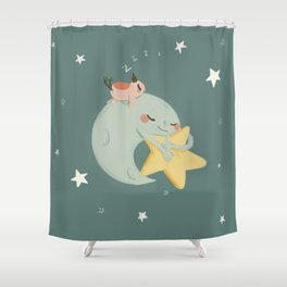 Moon Nap Shower Curtain