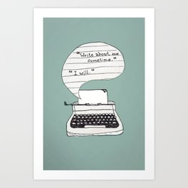 PERKS OF BEING A WALLFLOWER. Art Print
