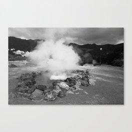 Hot spring Canvas Print